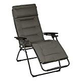 Lafuma Relax-Liegestuhl, Klappbar, Stufenlose Verstellung, Stahlkonstruktion, Air Comfort, Futura, Farbe: Taupe, LFM3051_6895