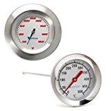 Lantelme 5937 Grill und Grillhauben Thermometer Set aus Edelstahl - Analog und Bimetall