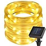 LE 12m LED Solarlichterkette mit Lichtsensor, 1,2 V 100 LEDs, wasserdicht IP55, tragbar, Außenlichterkette, LED Lichterketten Für Hochzeit, Party und ...
