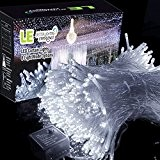 LE Lichterkettenvorhang 306 LEDs, 8 Modi 3m x 3m, kaltweiß, 6000 K, IP44 wasserfest Sternen LED Lichterketten für Weihnachten / ...