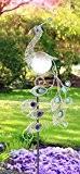 LED Garten Solar Leuchte Metall Kupferfarbe Pfau Design Steh Lampe Globo 33309S