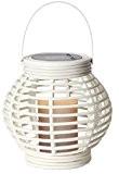 "LED-Solar-Laterne ""Lantern"", 1 warm light LED, Farbe : weiss ca. 16 x 16 cm, mit Solarpanel, incl. Akku, Outdoor"
