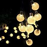 LED Solar Lichterkette - Ascher 30er LED Solar Lichterkette Garten Globe Außen, Warmweiß 6 Meter, Solar Beleuchtung Kugel für Party, ...