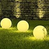 LED Solarleuchte Marion 3 x 20 cm im Set Kugelleuchte Kugellampe Dekoleuchte