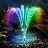 LED Solarpumpe mit Akku für Gartenteich Springbrunnen Licht Teichpumpe Gartenbrunnen