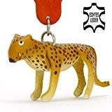 Leopard-Gepard-Tiger Shir Khan - kleiner Tiger Schlüssel-Anhänger aus Leder, eine tolle Geschenk-Idee für Frauen und Männer im Zoo-Zubehör, Stofftier, Kuscheltier, ...