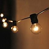 Lichterkette mit 25 Glühlampen Garten Außen- und Innenbereich 25 ft Warmweiß, End-to-End - CE Listed Wasserdicht (Incandescent Bulbs Included) EU ...