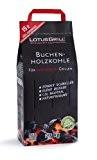 LotusGrill Buchen-Holzkohle 2,5 kg! Speziell entwickelt für den raucharmen Holzkohlegrill/Tischgrill
