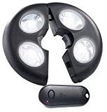Lunartec Helle LED-Schirmleuchte LSL-120, IP44, Fernbedienung, dimmbar, 120 lm