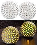 Lunartec Kabellose LED-Dekoleuchten aus Keramik im 2er-Set