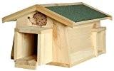 """Luxus-Insektenhotels 22216e Igelhaus """"Mecki"""" mit zwei Eingängen/Schleuse: Katzenschutz als Igelfutterhaus und Igelschlafhaus"""