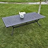 Madison 260 x 120cm Rechteckiges Gartenmöbelset - 1 x MADISON Tisch + 8 APRIL Stühle