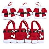 Mahonw Weihnachten Besteckhalter Taschen 6pcs Sankt-Klage Weihnachten Dekoration Besteck Kostüm kleine Hosen und Kleidung Besteck-Sets