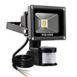 MEIKEE 10W LED Fluter Floodlight Strahler Licht Scheinwerfer Außenstrahler Wandstrahler Schwarz Aluminium IP65 Wasserdicht AC 85 - 265V  Tageslichtweiß ...