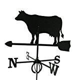 Metall Deko Wetterfahne Kuh schwarz großes Format