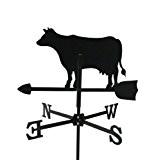 Metall Deko Wetterfahne Kuh schwarz kleines Format