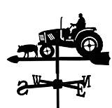 Metall Deko Wetterfahne Traktor schwarz kleines Format