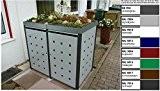 Metall Mülltonnenbox für 2 Tonnen, Müllcontainer, Müllbox. Made in Germany. # Größe: Für 2 Tonnen bis 240 l # Farbe: ...