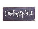 "Metallschild ""Lieblingsplatz"" Shabby Look 13cm x 30cm"