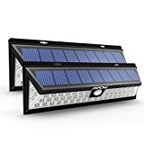 Mpow 2 Stück 54 LED Solarleuchte Außen Wasserdichte Solar Betriebene Lampe mit 120° Weitwinkel Bewegungs Sensor Solar für Garten, Terrasse, ...