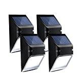 Mpow 5 LED Lampe Wasserdicht Solarbetriebene Wandlampen Wireless Security Außenbeleuchtung für Patio Deck Yard Garten Haus Treppen, Automatisch EIN / ...