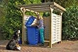 Mülltonnen-Box Holzunterstand Mülltonnenhäuschen Bikeport