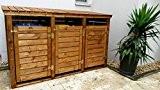 Mülltonnen-Box Mülltonnenverkleidung für 3 Tonnen inkl. Rückwand