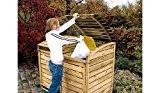 Mülltonnenbox aus Holz, Mülltonnenverkleidung - zweifach (für 2 Tonnen bis 240 Liter), wetterfest und somit ideal für draußen / Outdoor ...