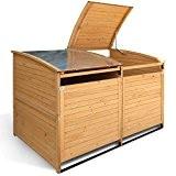 Mülltonnenbox Holz 240 L Gartenbox Mülltonnenverkleidung Mülltonne (Einzelbox + 2xAnbaubox)