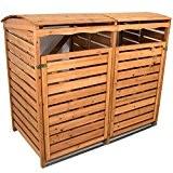 Mülltonnenverkleidung Holz Mülltonnenbox für 2 Mülltonnen 240l Müllcontainer