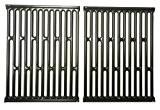 Music City Metals 58682Porzellan Stahl (2-teilig) Kochen Grid Set für Weber Marke Gasgrills-Schwarz