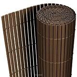 [neu.haus] PVC Sichtschutzmatte (90x300cm) (braun) Sichtschutz / Windschutz / Gartenzaun / Balkon Umspannung / Zaun