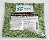 Novovit Dünger & Wasserspeicher Profi-Starthilfe / Wurzelstimulator für Gehölze, Hecken, Koniferen und Zierpflanzen Bodenverbesserer mit Stockosorb (500g)