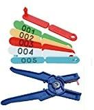 Ohrmarken TIP-TAG Rot + Ohrenmarkenzange Marken von 0 - 100