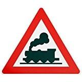 ORIGINAL Verkehrsschild Achtung unbeschrankter Bahnübergang Nr. 151 DAMPFLOK * alte Ausführung * Schild Lokomotive Zug Lok Verkehrszeichen Schilder Straßenschild Eisenbahnschild ...