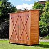 Outsunny® Holz Gerätehaus Geräteschuppen Gartenschrank Geräteschrank Gartenhaus 159x139x75 cm