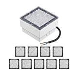 parlat LED Einbaustein Bodeneinbauleuchte CUS, 10x10cm, 230V, warm-weiß, 10 Stk.