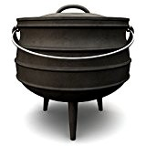 Potjie, verschiedene Größen zur Auswahl, Gusseisen Kochtopf, Südafrikanischer Dutch Oven (Potjie #4 (ca. 12 Liter))
