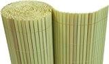 PVC Sichtschutzmatte Balkon Sichtschutz 180x500 cm Windschutz Gartenzaun bambus - Röhrchen