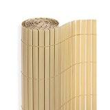 PVC Sichtschutzmatte in der Größe 180 x 300 cm, Farbe: Bambus