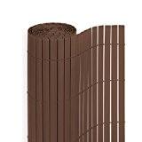 PVC Sichtschutzmatte in der Größe 180 x 500 cm, Farbe: Braun