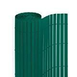PVC Sichtschutzmatte in der Größe 180 x 500 cm, Farbe: Grün
