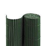 PVC Sichtschutzmatte / Sichtschutzzaun für Garten, Balkon und Terrasse, 160 x 1000 cm (Bestehend aus 2 Matten mit je 2x ...