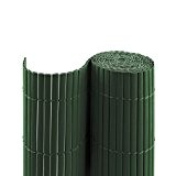 PVC Sichtschutzmatte / Sichtschutzzaun für Garten, Balkon und Terrasse, 180 x 1000 cm (Bestehend aus 2 Matten mit je 2x ...