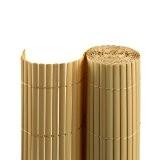 PVC Sichtschutzmatte / Sichtschutzzaun für Garten, Balkon und Terrasse, 80 x 400 cm, bambus
