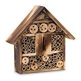 Relaxdays Insektenhotel gebrannt HBT 28,5 x 30 x 9 cm Bienenhotel aus Naturmaterialien als Unterschlupf für Käfer, Bienen und andere ...