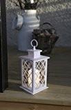Romantisch dekorative LED Laterne 31 cm x 14 cm aus Metall und Glas - mit LED - Kerze flackernd - ...