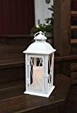 Romantisch dekorative XL - LED Laterne mit Tür - aus METALL - sehr edel - Größe : 32 cm x ...