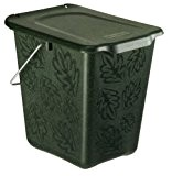 Rotho Kompost Eimer GREENLINE, Bio Mülleimer für die Küche mit geruchsdichtem Deckel aus Bio-Kunststoff, Recycling Eimer mit 7 Liter Inhalt, ...
