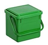 Rotho Komposteimer Bio, Abfallbehälter für die Küche aus Kunststoff mit geruchsdichtem Deckel in grün, Biomülleimer mit 4,5 Liter Inhalt, ca. ...